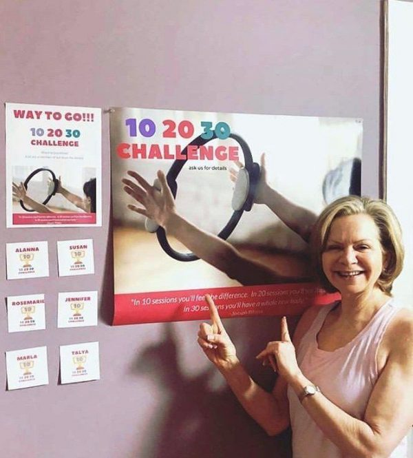The 10 20 30 Challenge Poster and Leaderboard